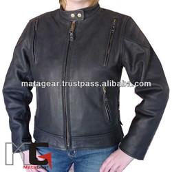 Leather Ladies Motorcycle Jacket, Biker Ladies Leather Jacket