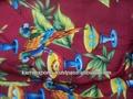 mikro saten kumaş baskılı polyester kumaşlar Hindistan yapılan saten baskılı