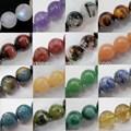 Loose bead string pedras semi preciosas, rodada 4-16mm