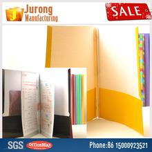 Jurong Manufacturing Paper File Folder Definition File and Folder, Assorted Colors