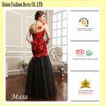 2014 elegante nero e rosso una spalla sirena creare il proprio abito prom
