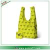 Neon yellow ripstop nylon shopping bag