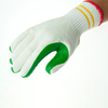 7gauge knitted cotton liner rubber palm working gloves hot sale