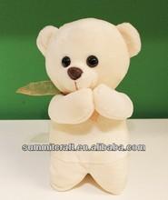 Plush praying bear