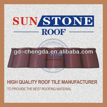 Desert Tan 0.5mm thickness stone coated alu zn metal roof tiles
