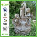 la estatua del ángel de la resina de jardín de agua grandes fuentes de la decoración