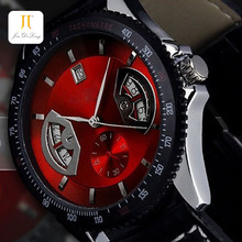 Hollow Transparent dial special stainless steel mechanical watches pu leather strap