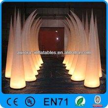 CE Led Light Inflatable rhinoceros tube For Advertising/wedding