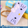 3D Silicon Animal Case Hello Kitty Case for iPhone 5 5S
