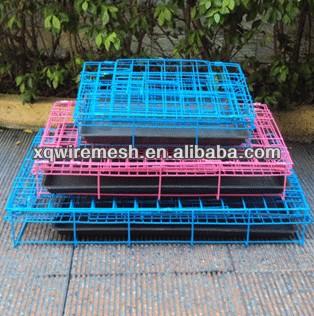 size folding dog cage,foldable dog crate,cage factory