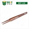 BEST-13C Customiz stainless steel eyebrow tweezer