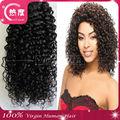 5a grado barato del pelo brasileño del enrollamiento de jerry jerry curl weave peinado