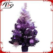 purple plastic colourful christmas trees