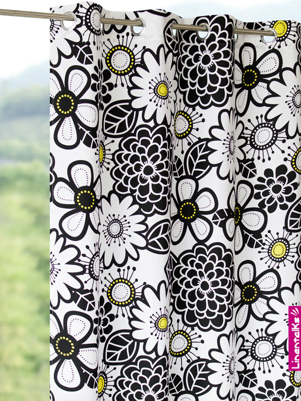 Floral Printed Curtains-100% Polyester Plain Color 2013 latest design curtains