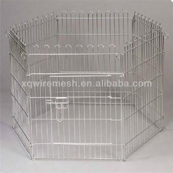 Modular dog kennels folded dog pens steel grid dog runs