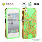2013 newest Design Butterfly Silicone case for Iphone 4/4s