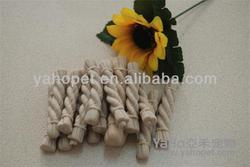 high funny sharp of green dental rope dog treats of dental rope from Yaho Pet Food ,Guangdong ,China