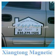 Outdoor Advertising PVC Water-proof Custom Logo House Shape Magentic Painting Car Door Stickers