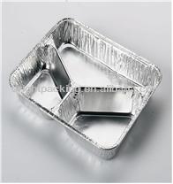 disposable aluminium foil divided food trays