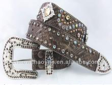 caliente venta parte de piel de vaca de diamantes de imitación de la moda de la correa