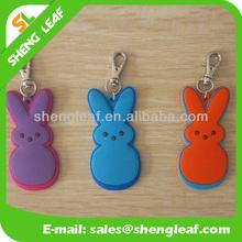Wholesale custom promotional colorful pvc keyring