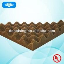 Top quality creative wave shape pu foam sound insulation