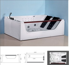 LN-9619 Hangzhou glossness indoor New design Hot sale Sanitary Ware Acrylic massage LED corner Bathtub Whirlpool