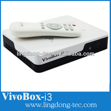Newest VivoBox i3 Android 4.0 TV Box+ DVB S2 Satellite Receiver for Worldwide Support XBMC