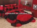 venda quente luxo de noiva romântico colcha conjunto
