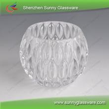 New embossed patterns glass lantern