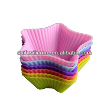 colorful customed single silicone muffin cups bakeware
