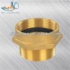 Brass pipe fittings&fipe hose adapters brass hex nipple female *male