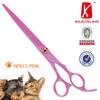 NPK15 - Pet grooming shears with SUS440C pink teflon coating