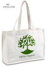 Organic cotton document bag