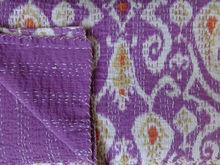 Indian Ikat Kantha quilts wholesale, Handmade designer throw 100% cotton India