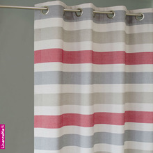 Linen Stripe Curtains-100% Polyester stripe curtains 2013 latest design curtains