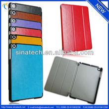 For iPad mini 2 leather case, classic PU leather case for Retina iPad mini