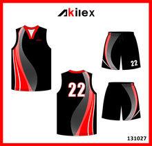 OEM polyester basketball uniform basketball jersey shorts