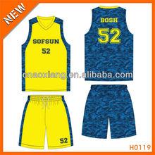 100% polyester league basketball shirt