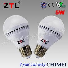 Low cost 20lm/led 90lm/w high quality b22 led bulb 5w