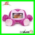 d885 esponjoso de color rosa de peluche interactivo de los animales caja del teléfono celular
