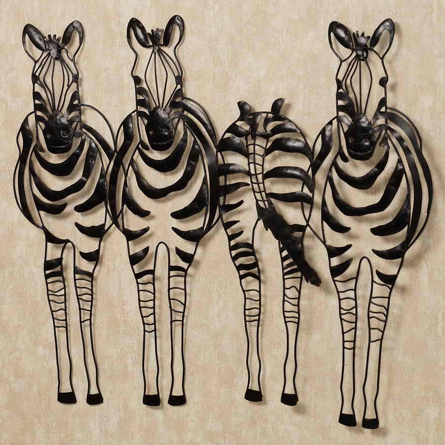 Metalen paard kunst aan de muur decor zebra abstracte
