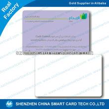 çince fabrika CR80 plastik pvc cep boyutu takvim kartı
