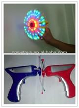 Lanterna brinquedos fiação magia Led Gun Toy Windwill arma