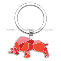 Tangram Colored Animal Key Holder