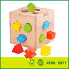 Wooden shape block box