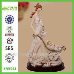 Newest Beautiful Resin Wedding Souvenir Lady Figure Painting