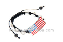 the Stars and Stripes Star-Spangled Banner American Flag with stone & 6 pcs hemisphere