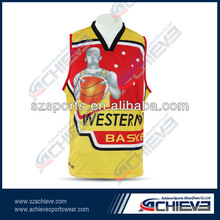 2014 new design basketball tops with sublimation printing