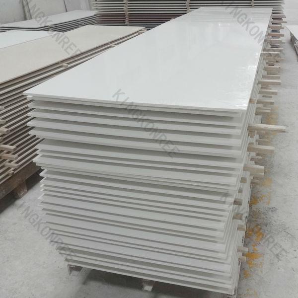 Keuken Badkamer Vloeren ~   plaat, composiet kunstmatige marmeren plaat, witte, vaste stof